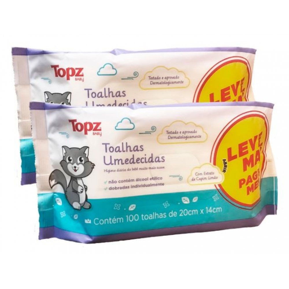 Toalhas Umed.topz Baby C.100 Lv+pg - Pc