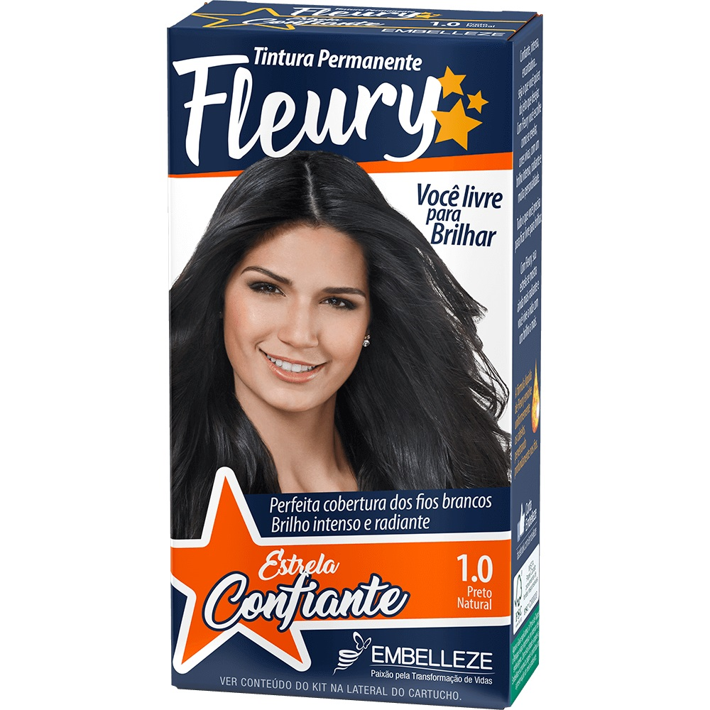 Coloração Fleury Kit 1.0 Preto Natural(64) - Pc
