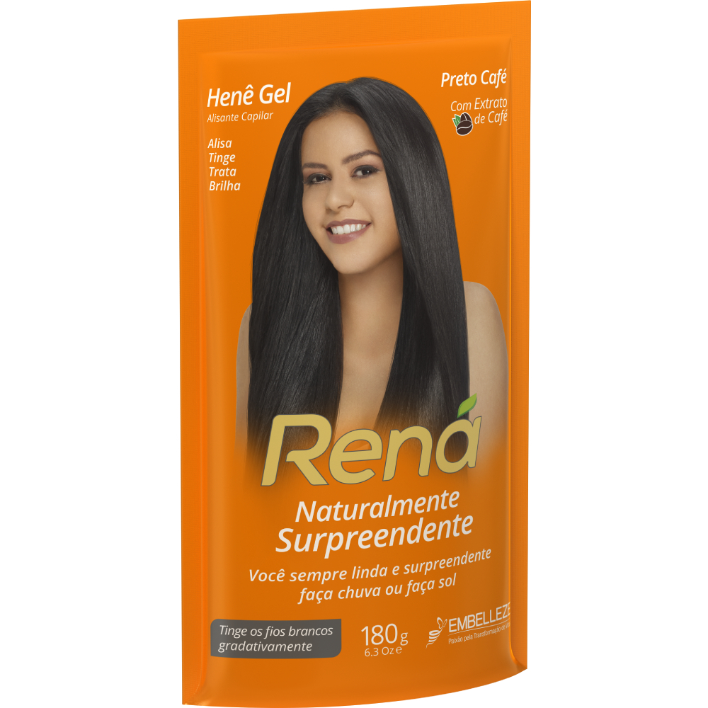 Hene Rena 180g Gel Preto Cafe - Pc