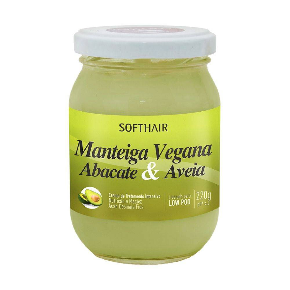 Creme Manteiga Soft Hair Vegana Abacate & Aveia 220g - Pc
