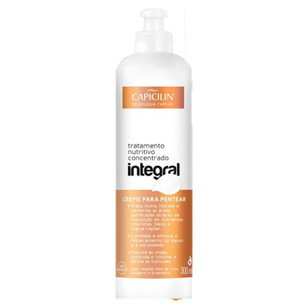 Creme de Pentear Capicilin 300ml Integral - Pc