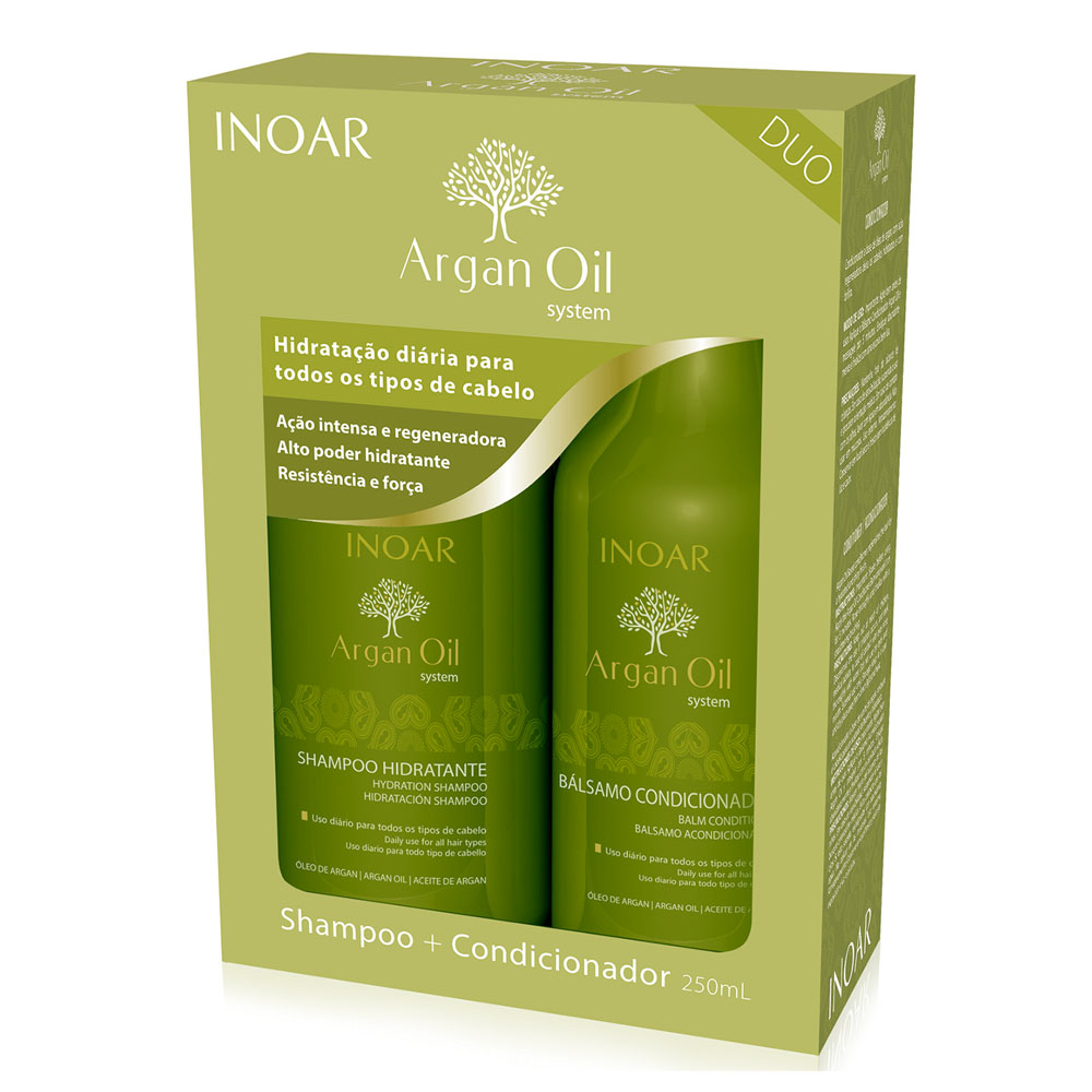 Kit Inoar Argan Oil Shampoo 250ml + Condicionador 250ml - Pc