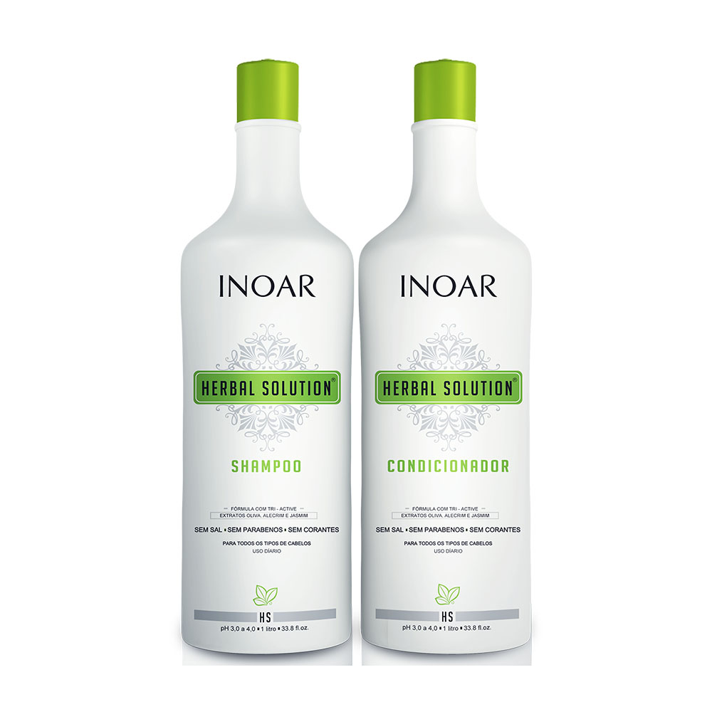 Kit Inoar Herbal Shampoo 1000ml + Condicionador 1000ml - Pc
