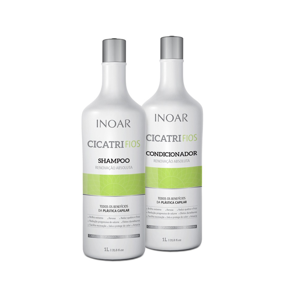 Kit Inoar Shampoo + Condicionador Cicatrifios 1000ml - Pc