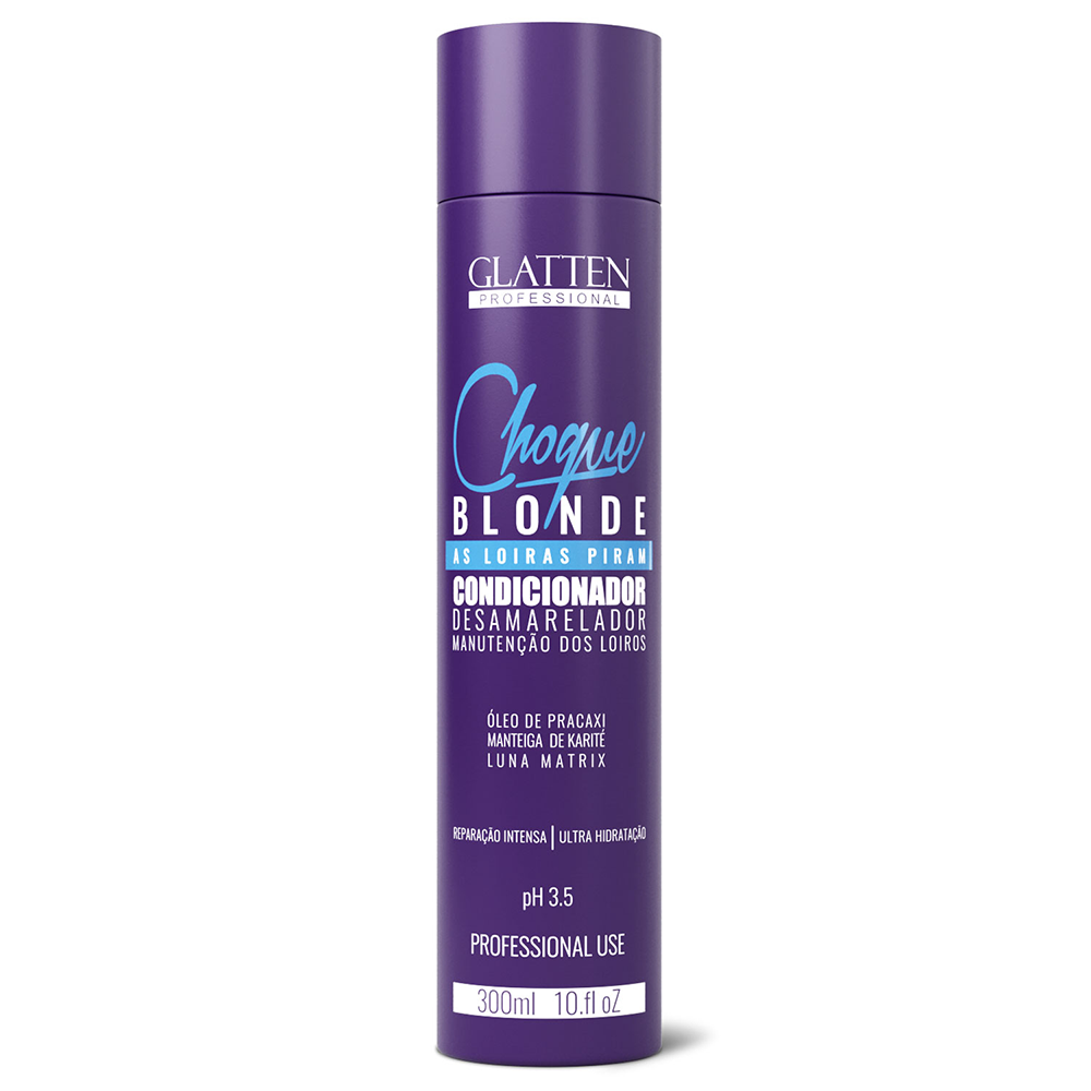 Condicionador Glaten 300ml Choque Blond - Pc