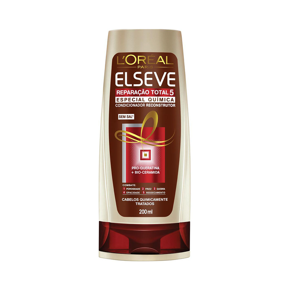 Condicionador Elseve Reparação Total 5 Quimica 200ml - Pc
