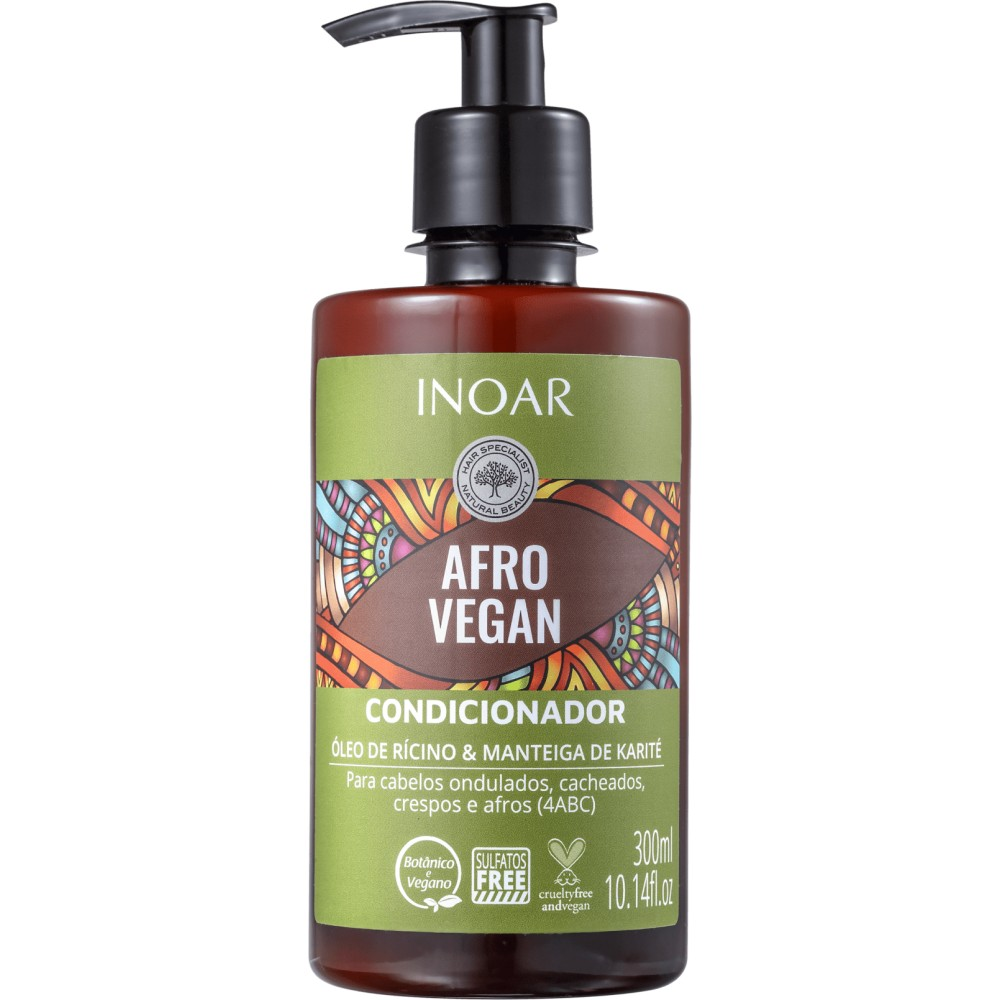Condicionador Inoar 300ml Afro Vegan - Pc